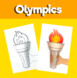 Olympic Torch 3D Craft