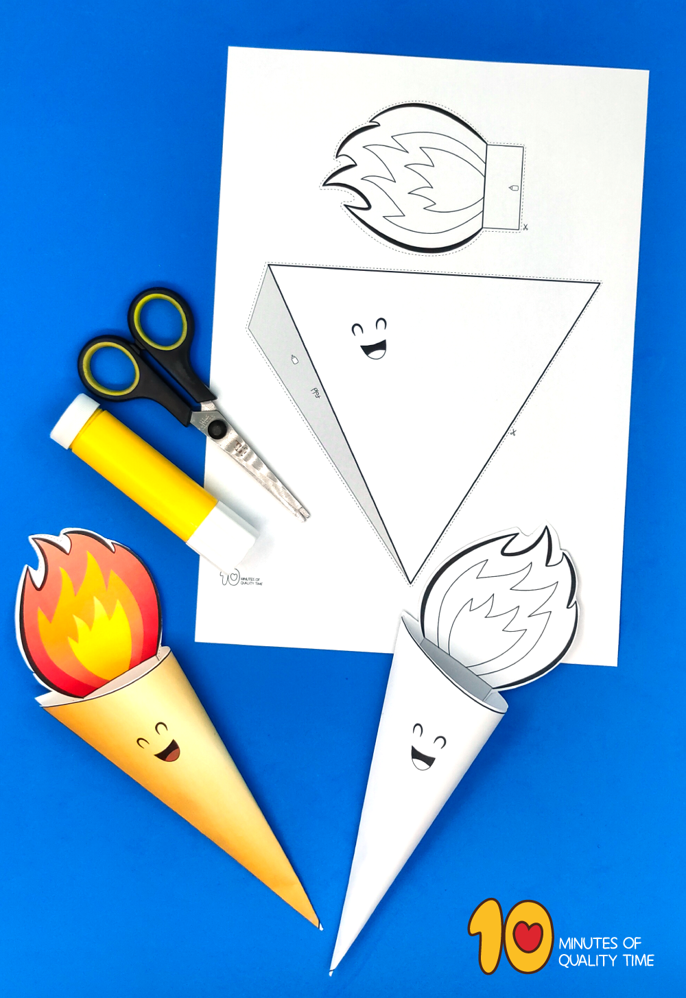 olympic flame torch craft