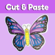 Butterfly cut and paste craft