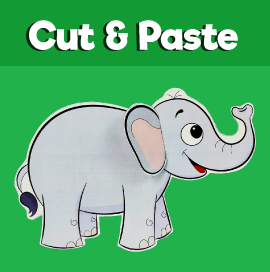 Elephant Cut and Paste Craft