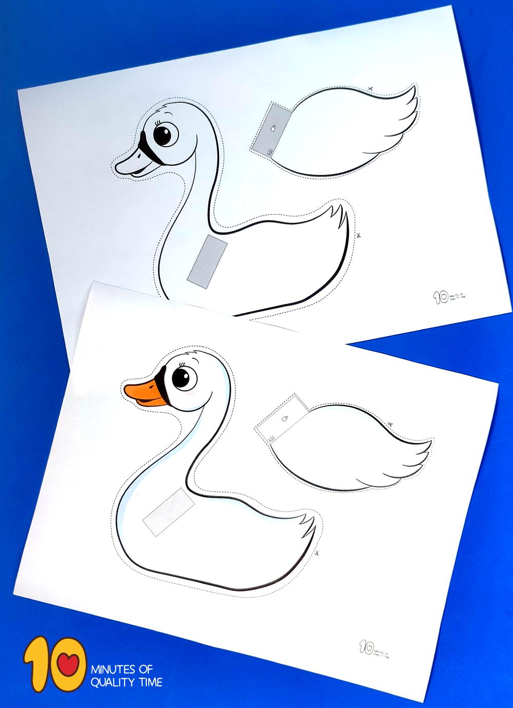 swan craft paper