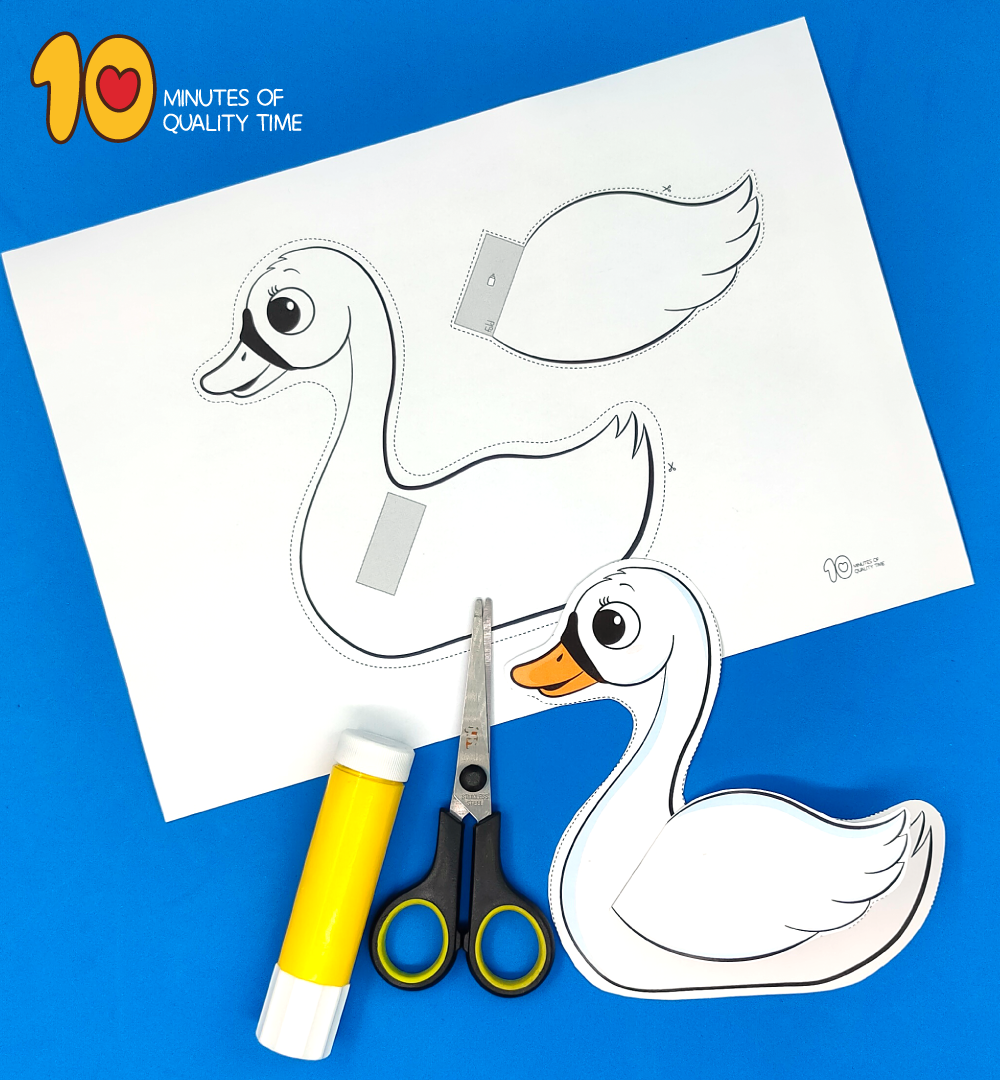 swan craft preschool