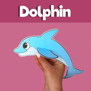 Dolphin Cut and Paste Craft