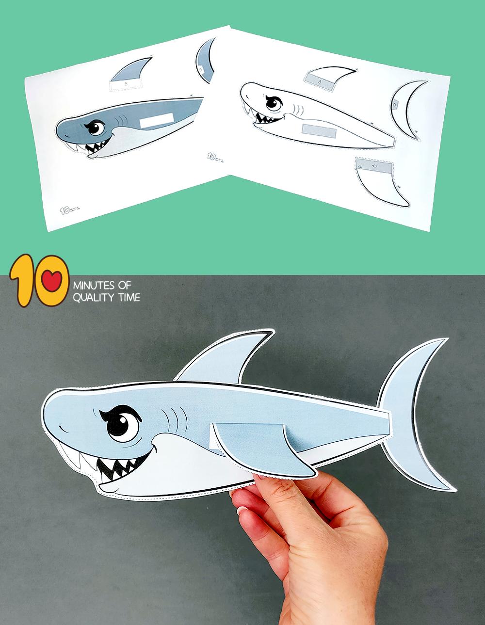 shark craft preschool
