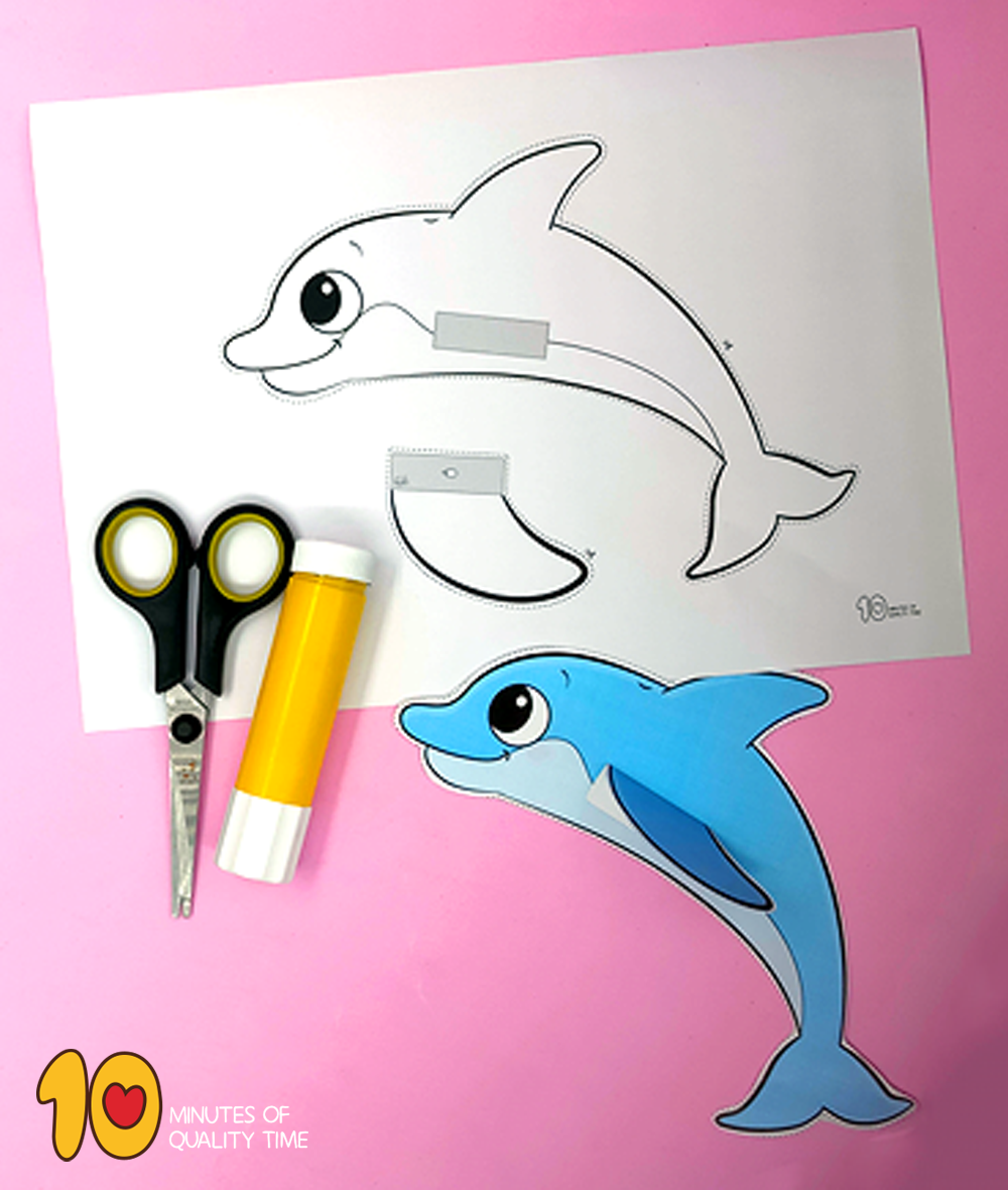 dolphin crafts for preschoolers