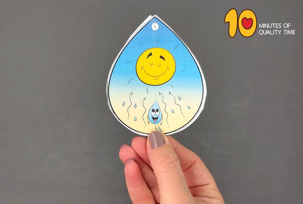 water cycle craft preschool