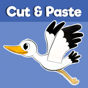 Stork Cut and Paste Craft