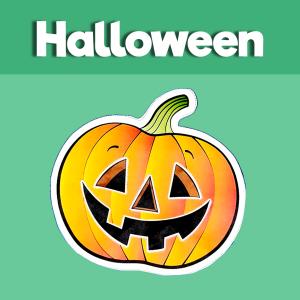 halloween cut and paste pumpkin