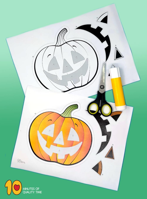 preschool halloween cut and paste