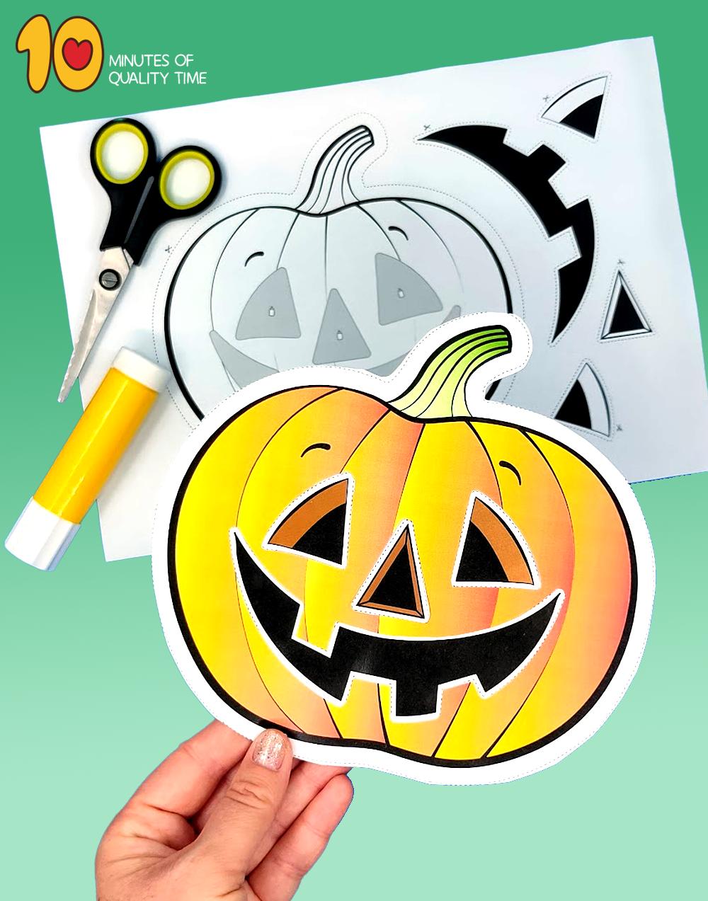 halloween cut and paste activities