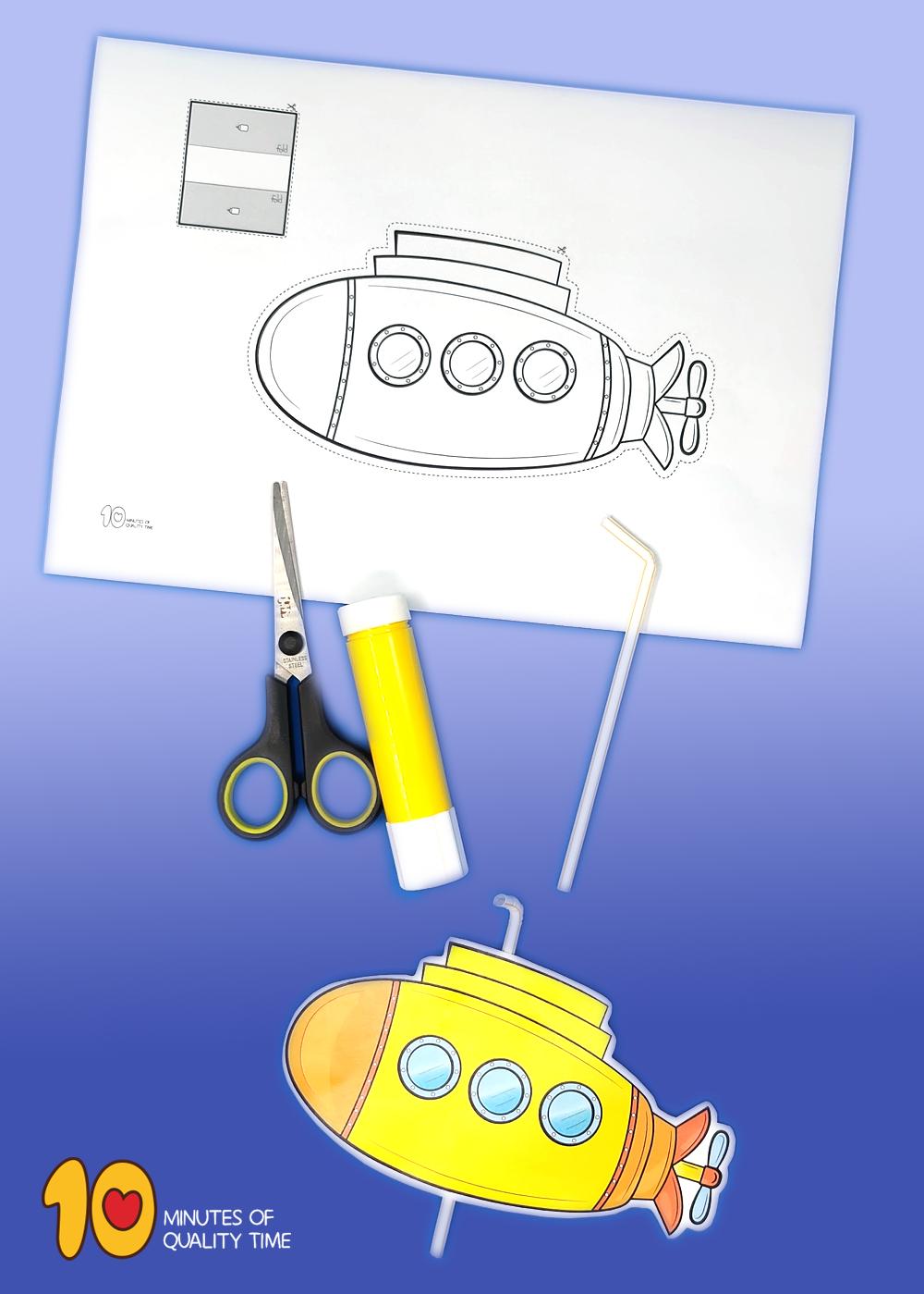 submarine printable template