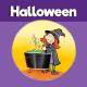 Witch Stirring Cauldron 3D Craft