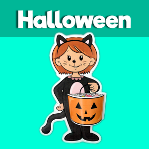Cat Trick or Treat Craft for Halloween