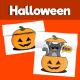 Black Cat in Pumpkin Halloween Craft