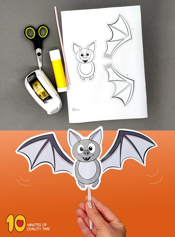 bat halloween craft preschool