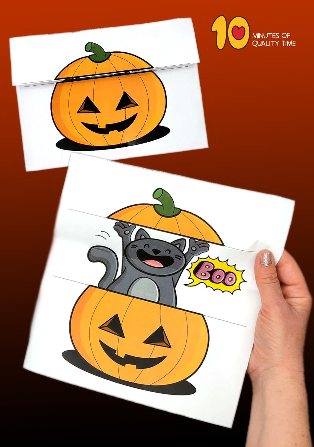 halloween cat craft template